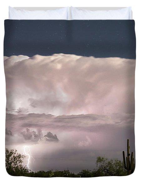 Arizona Monsoon Thunderstorm  Duvet Cover