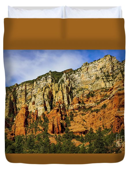 Duvet Cover featuring the photograph Arizona Morning by Jon Burch Photography