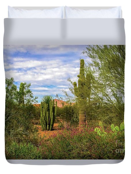 Arizona Spring Morning Duvet Cover