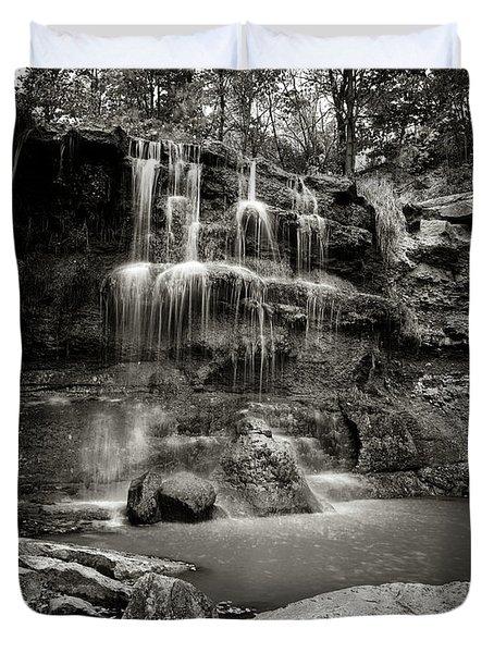 Rock Glen Falls Duvet Cover