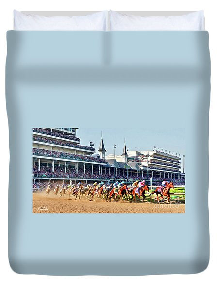 Around The First Turn Duvet Cover
