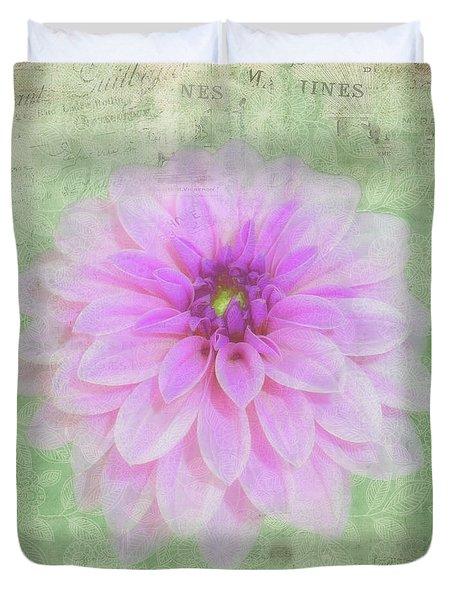 Artistic And Decorative Dahlia Photoart Duvet Cover