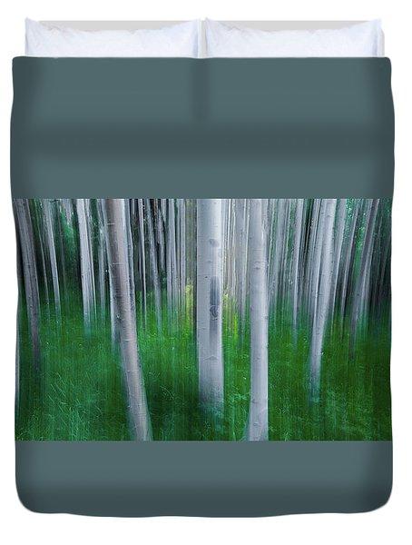 Artistic Aspens Panorama Duvet Cover