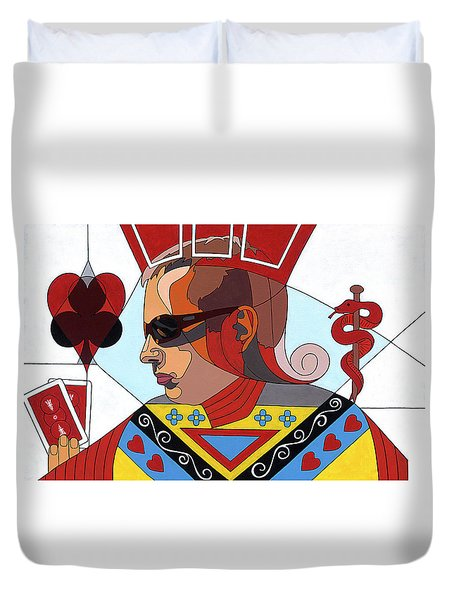 The Oracle Poker Player Duvet Cover