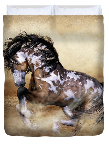 Wild And Free Horse Art Duvet Cover