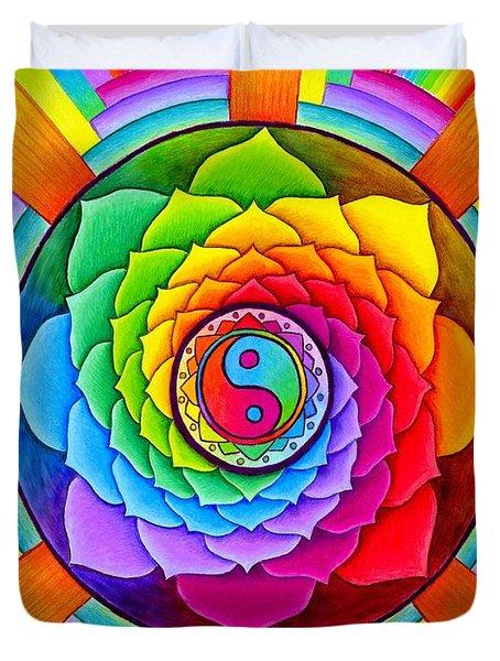 Healing Lotus Duvet Cover