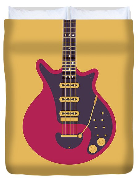 Red Special Guitar - Gold Duvet Cover