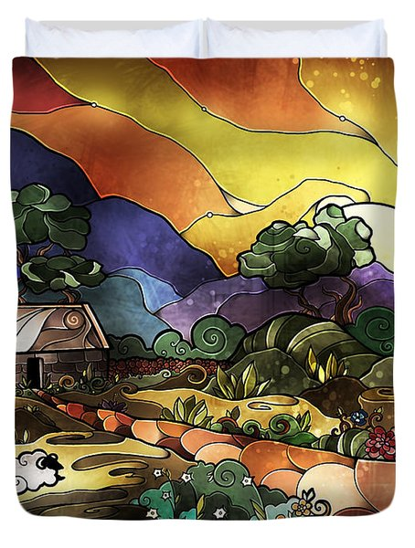 The Shepherd's Cottage Duvet Cover