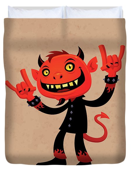 Heavy Metal Devil Duvet Cover