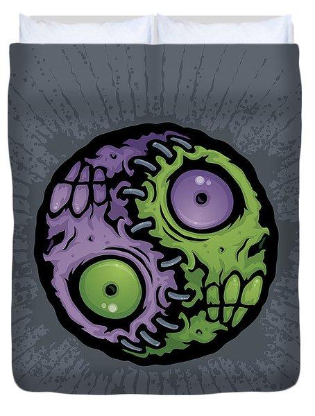 Zombie Yin-yang Duvet Cover