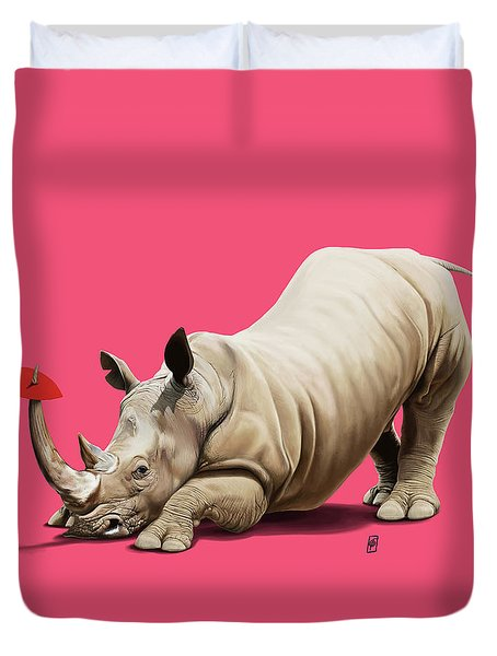 Duvet Cover featuring the digital art Horny Colour by Rob Snow