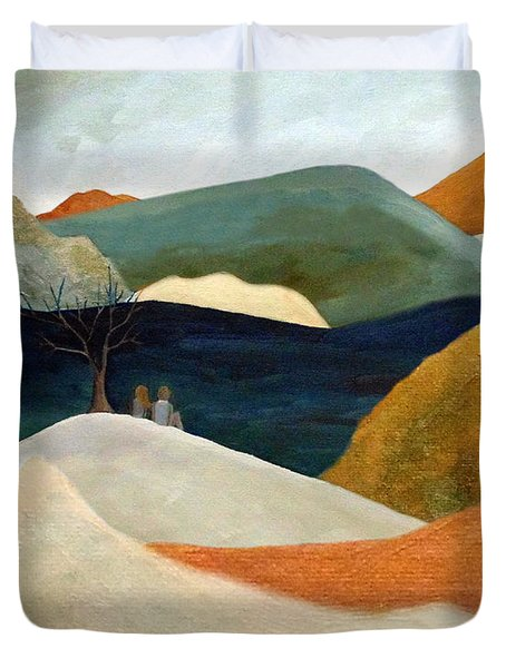 Us Two With A View Duvet Cover