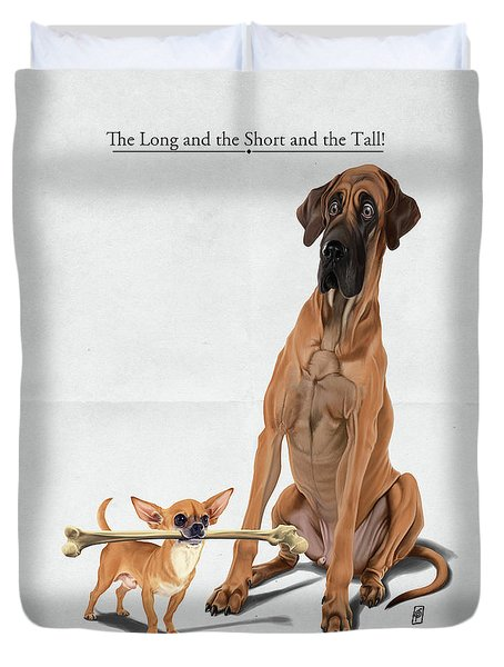 Duvet Cover featuring the digital art The Long And The Short And The Tall by Rob Snow