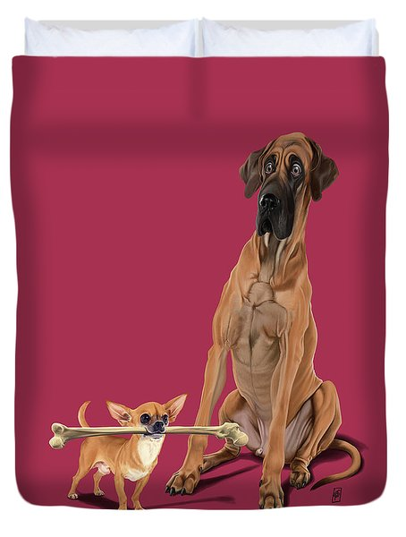 Duvet Cover featuring the digital art The Long And The Short And The Tall Colour by Rob Snow