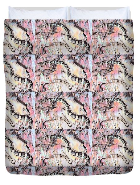 Duvet Cover featuring the photograph Longnosed Snake - Rhinocheilus Lecontei by Judy Kennedy