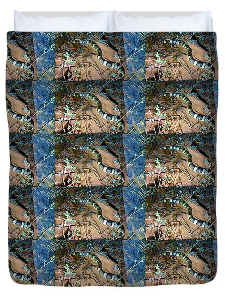 Duvet Cover featuring the photograph Longnosed Snake By A Desert Wash by Judy Kennedy