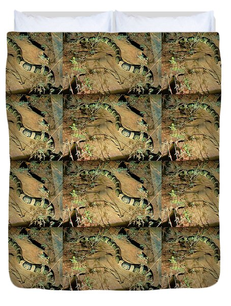 Duvet Cover featuring the photograph Sonoran Desert Longnosed Snake Vintage by Judy Kennedy