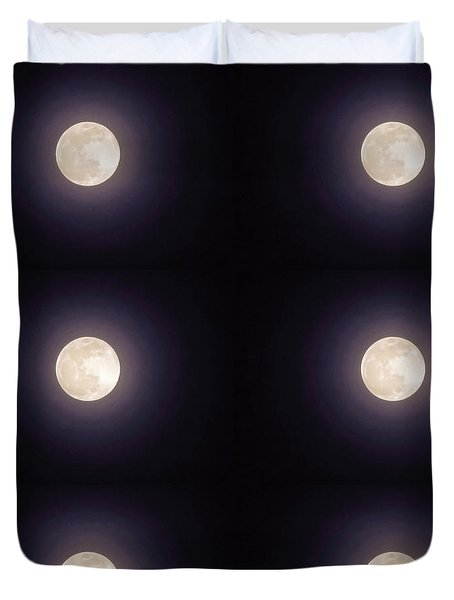 Duvet Cover featuring the photograph Libra Full Moon by Judy Kennedy