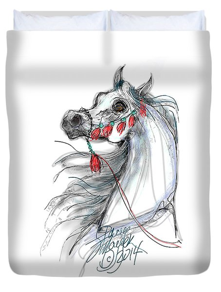 Duvet Cover featuring the digital art Always Equestrian by Stacey Mayer