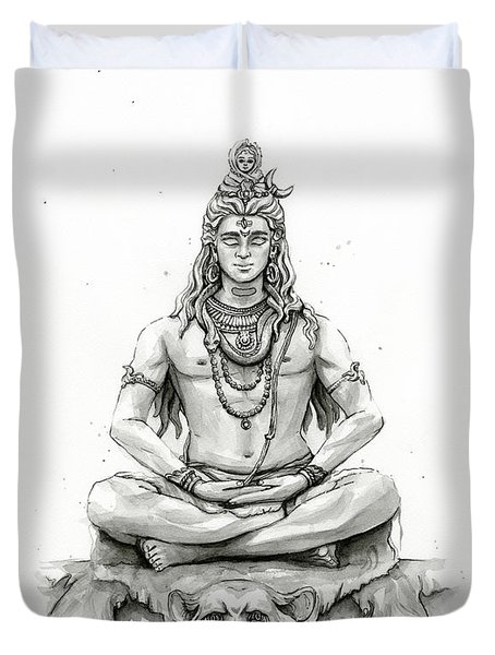 Shiva Portrait Duvet Cover