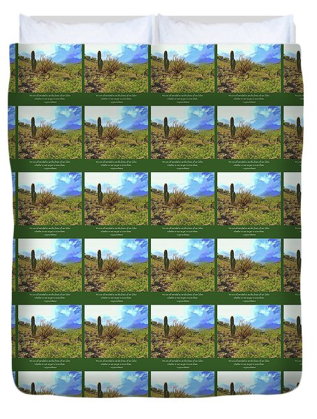 Duvet Cover featuring the photograph Fruits Of Our Labor by Judy Kennedy