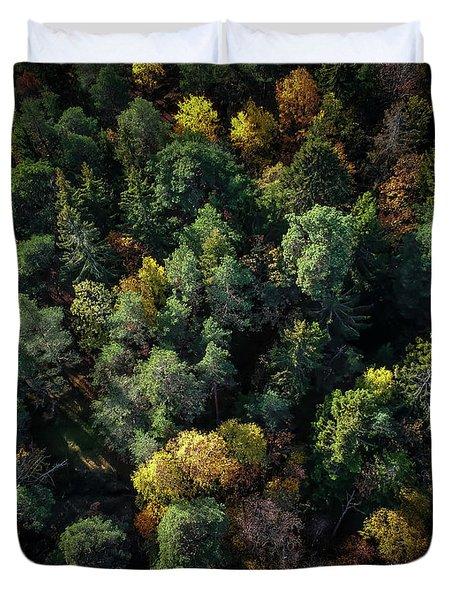 Forest Landscape - Aerial Photography Duvet Cover