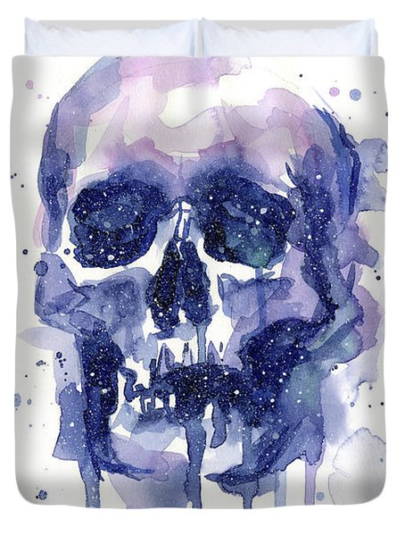 Space Skull Duvet Cover