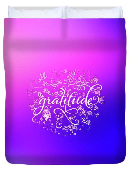 Purply Pink Gratitude Duvet Cover