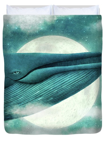 The Great Whale Duvet Cover