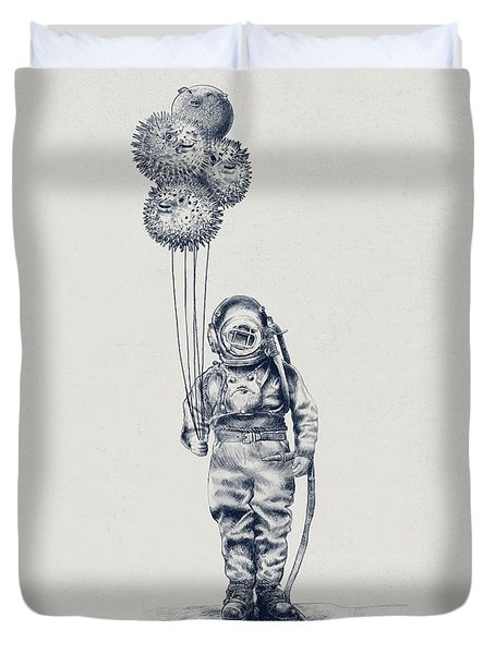 Balloon Fish Option Duvet Cover