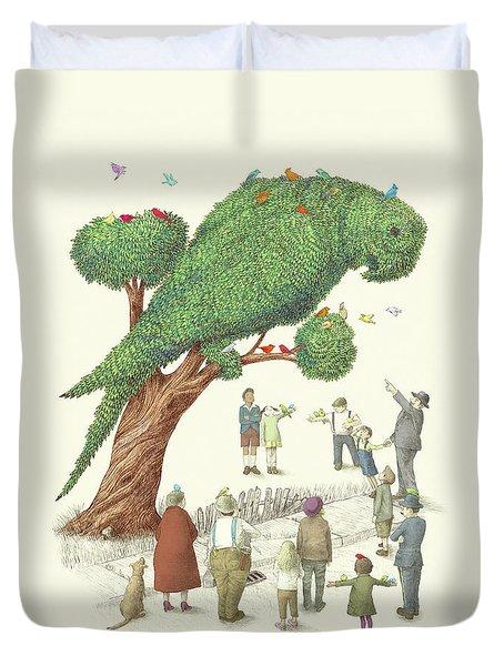 The Parrot Tree Duvet Cover