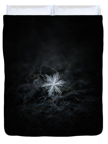 Duvet Cover featuring the photograph Real Snowflake - 18-dec-2018 - 3 by Alexey Kljatov
