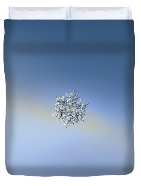 Duvet Cover featuring the photograph Real Snowflake - 05-feb-2018 - 17 by Alexey Kljatov