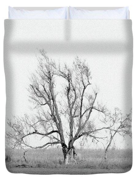 Oklahoma Tree Duvet Cover