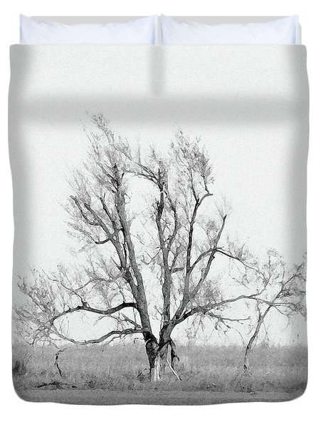 Oklahoma Tree Duvet Cover