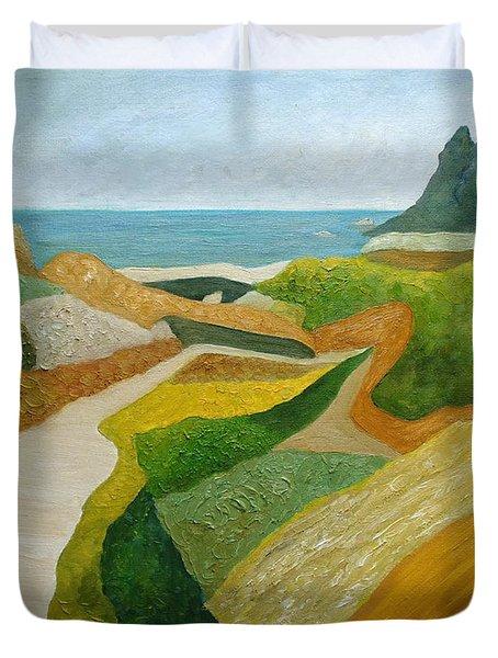 A Walk Down To The Sea Duvet Cover