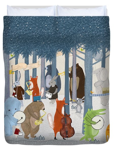 Little Nature Parade Duvet Cover by Bri Buckley