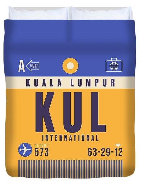 Retro Airline Luggage Tag - Kul Kuala Lumpur Airport Duvet Cover