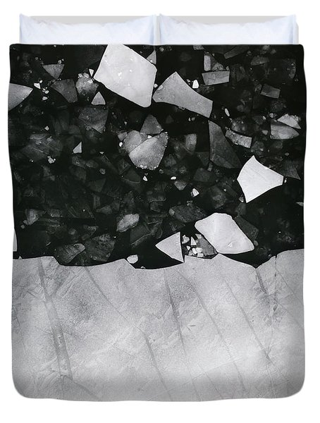 Winters Edge - Aerial Photography Duvet Cover