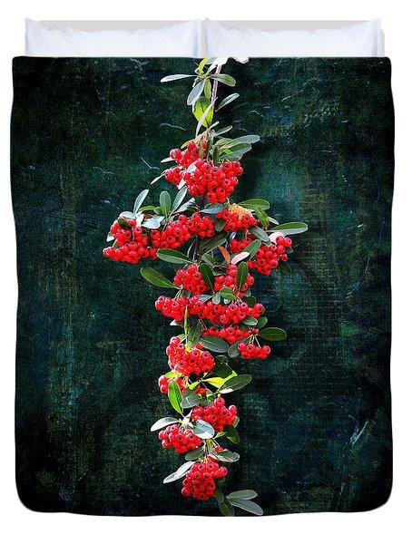 Pyracantha Berries - Do Not Eat Duvet Cover