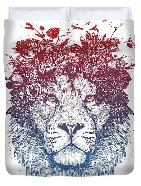 Floral Lion IIi Duvet Cover
