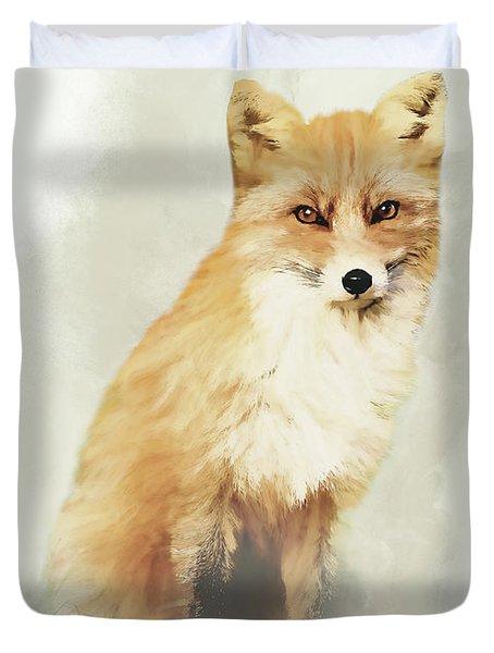 Woodland Fox Portrait Duvet Cover