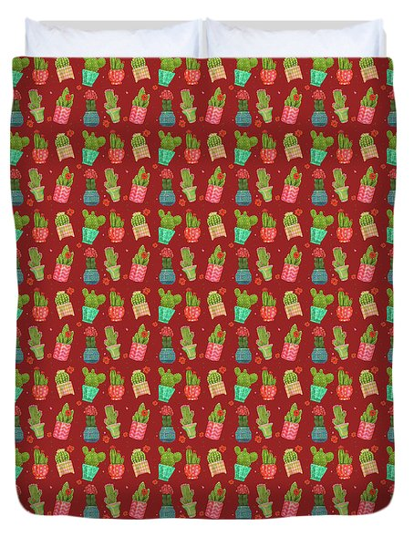 Cactus Friends Duvet Cover