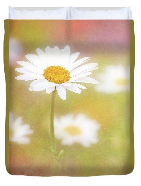 Delightful Daisy Portrait Duvet Cover