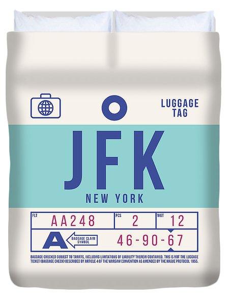 Retro Airline Luggage Tag 2.0 - Jfk New York United States Duvet Cover