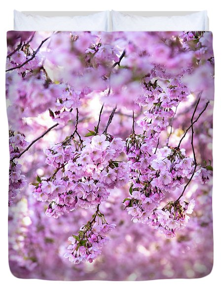 Cherry Blossom Flowers Duvet Cover