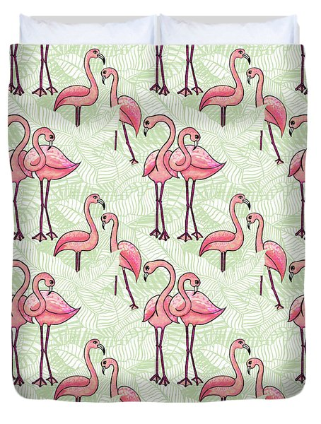 Flamingo Pattern Duvet Cover