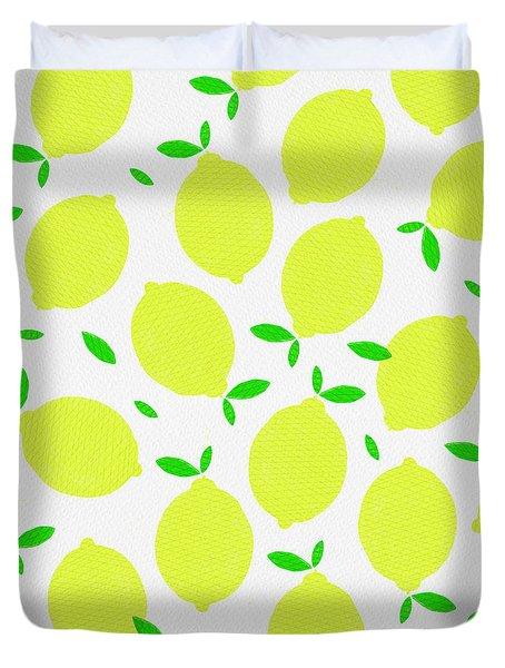 Sunny Lemon Pattern Duvet Cover