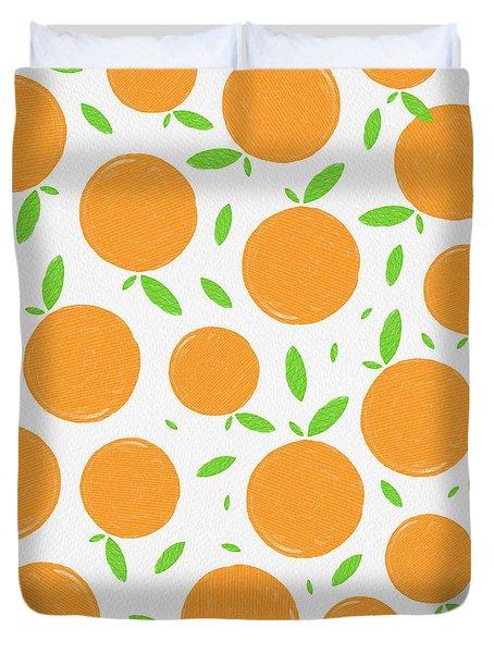 Sunny Citrus Pattern Duvet Cover