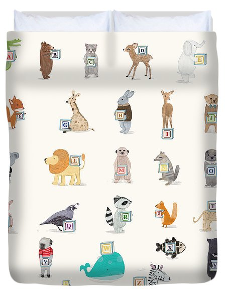 Little Alphabet Duvet Cover by Bri Buckley